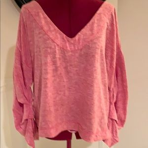 NWT We the Free Ruched Sleeve Top
